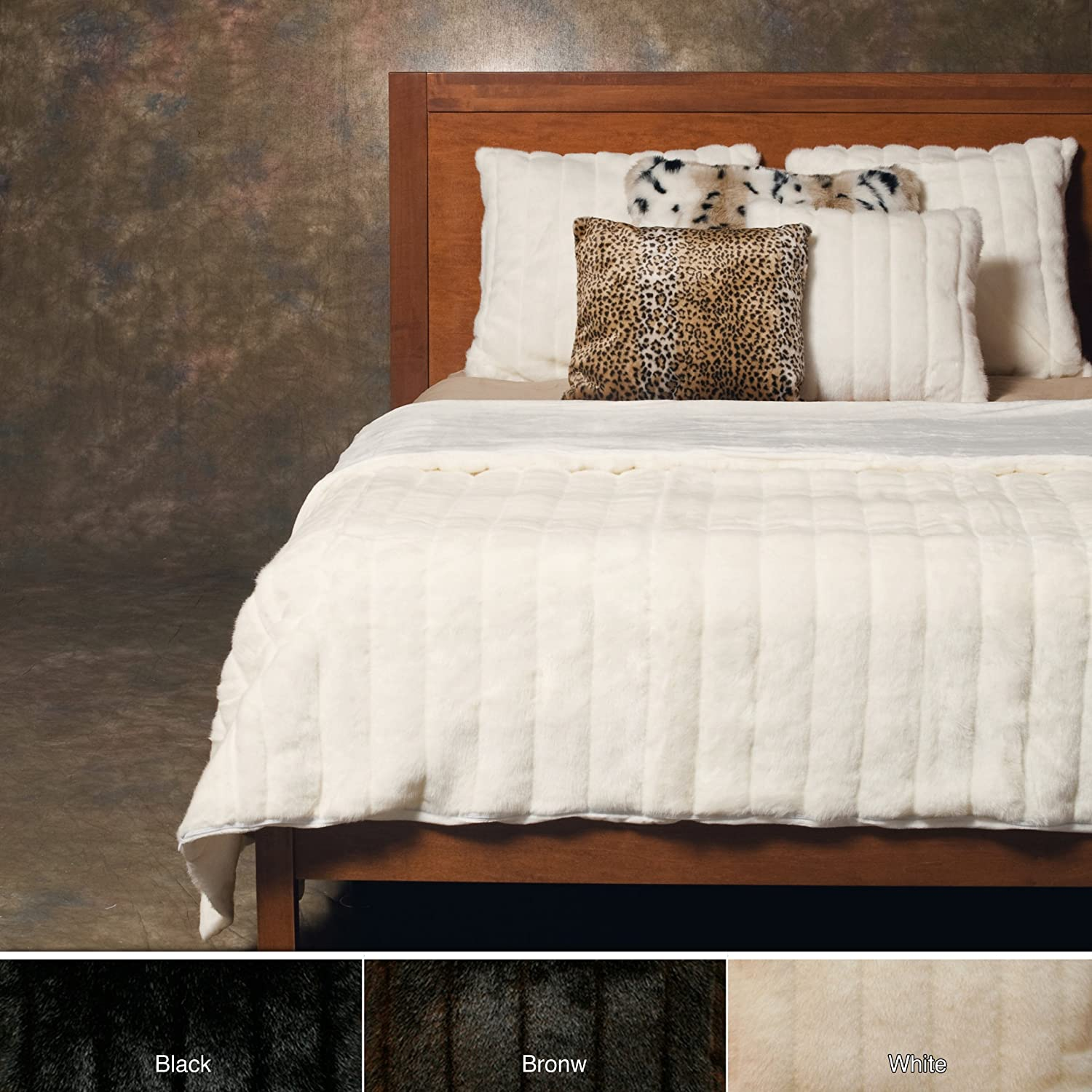 blanket black gray cashmere stole chinchilla yard taupe the faux fake fabric by fur pillow comforter bedspread throw