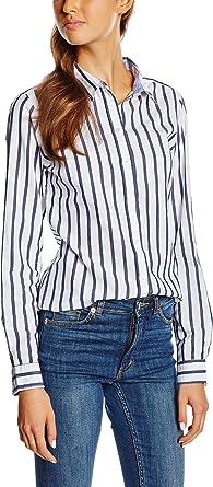 Springfield 4.T.Camisa Raya Tejida Blusa, White, 34 para ...