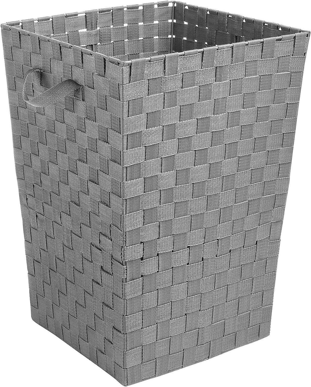Whitmor Woven Strap Hamper Grey