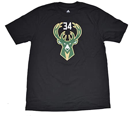 153d2c2a7 Outerstuff Giannis Antetokounmpo Milwaukee Bucks Youth Black Name and Number  Player T-shirt Small 8