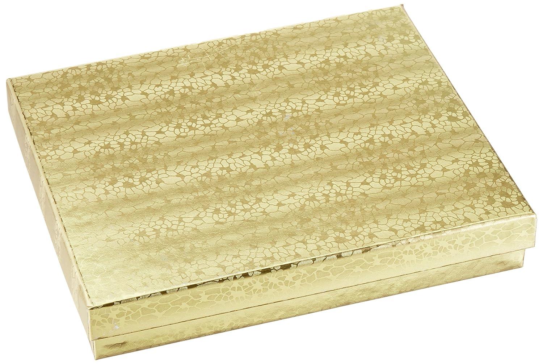 Mesha 39 pcs cajas de joyería 7 x 5,5 x 1 cm pequeñas cajas de regalo cajas de cartón pendientes de remolino de oro con relleno de algodón: Amazon.es: Hogar