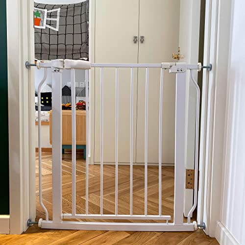 BalanceFrom Easy Walk-Thru Safety Gate for Doorways and Stairways with Auto-Close Hold-Open Features, Multiple Sizes