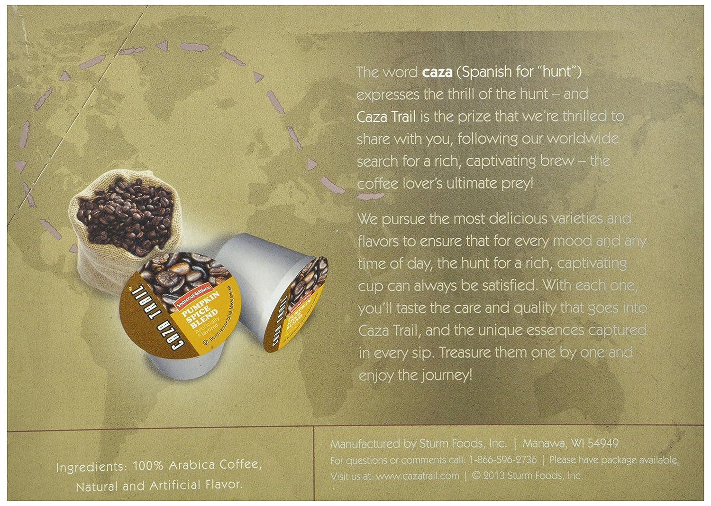 Caza Trail Coffee, Pumpkin Spice, 24 Single Serve Cups: Amazon: Grocery &