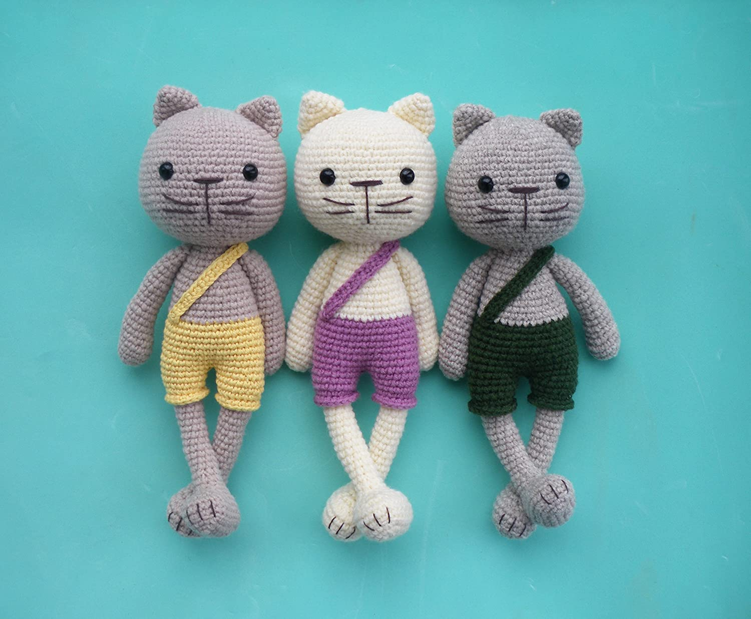 crochet cat kitty, knitted toy, soft toy cat, plush cat, baby toy