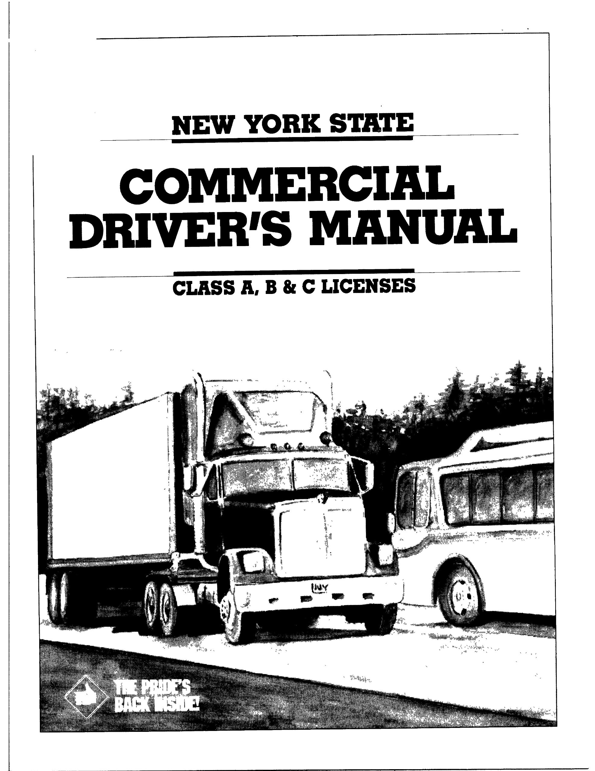 commercial driver license manual ny