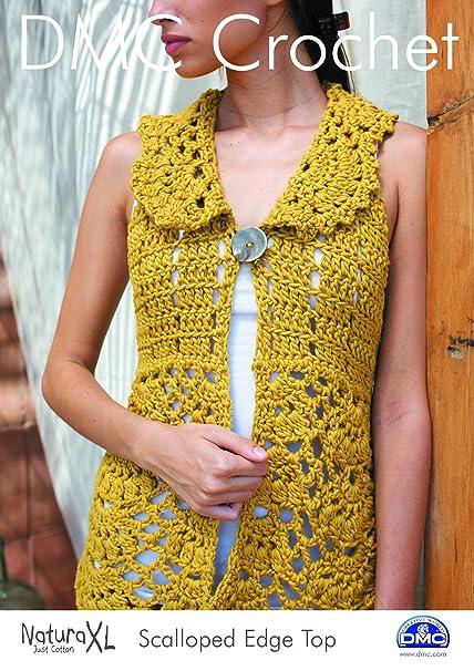 Amazon Dmc Crochet Pattern Scalloped Edge Top 15240l2 Home