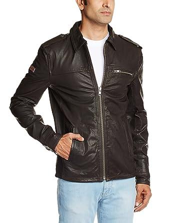 866d5c369 Superdry Men's Copper Label Ryan Black Leather Jacket - Black - L ...