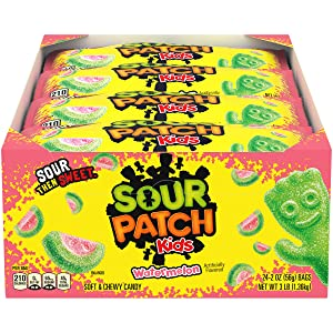 SOUR PATCH KIDS Watermelon Soft & Chewy Candy, 24 - 2 oz Bags