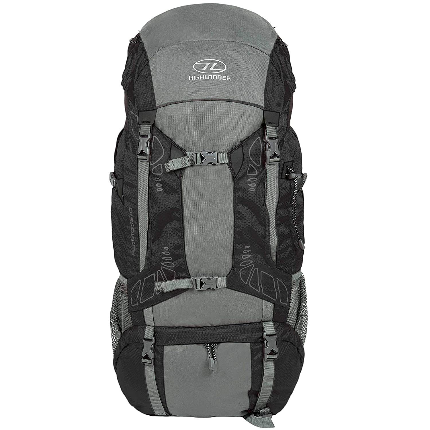 Sporting Goods Highlander Travel Rucksack Hiking Backpack Back Pack 45 65 85 Litre Cover Black