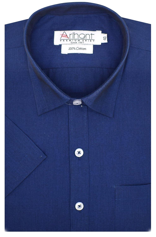 Arihant Men's Plain Regular Fit Formal Shirt (AR73422038_Blue_38)