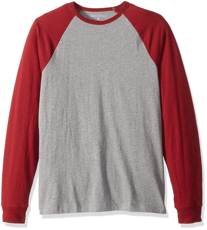 J.Crew Mercantile Mens Long-Sleeve Baseball T-Shirt