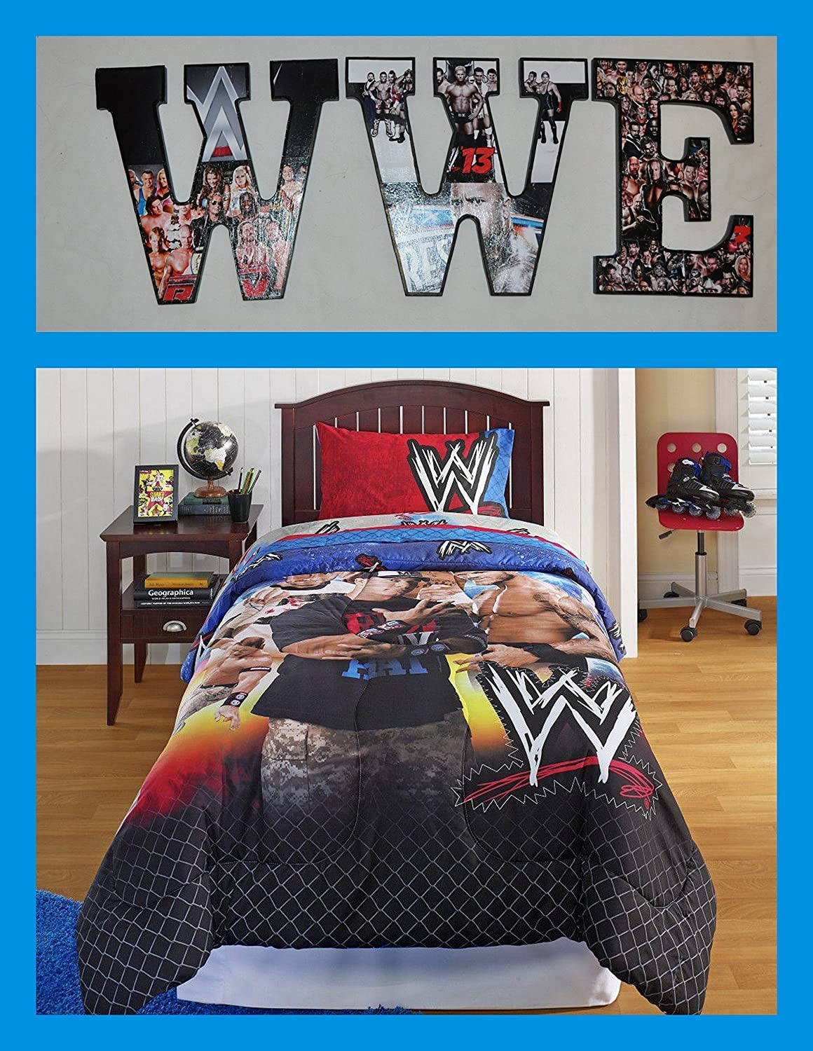 Amazon.com: WWE Inspired Wooden Wall Letters Decor: Handmade