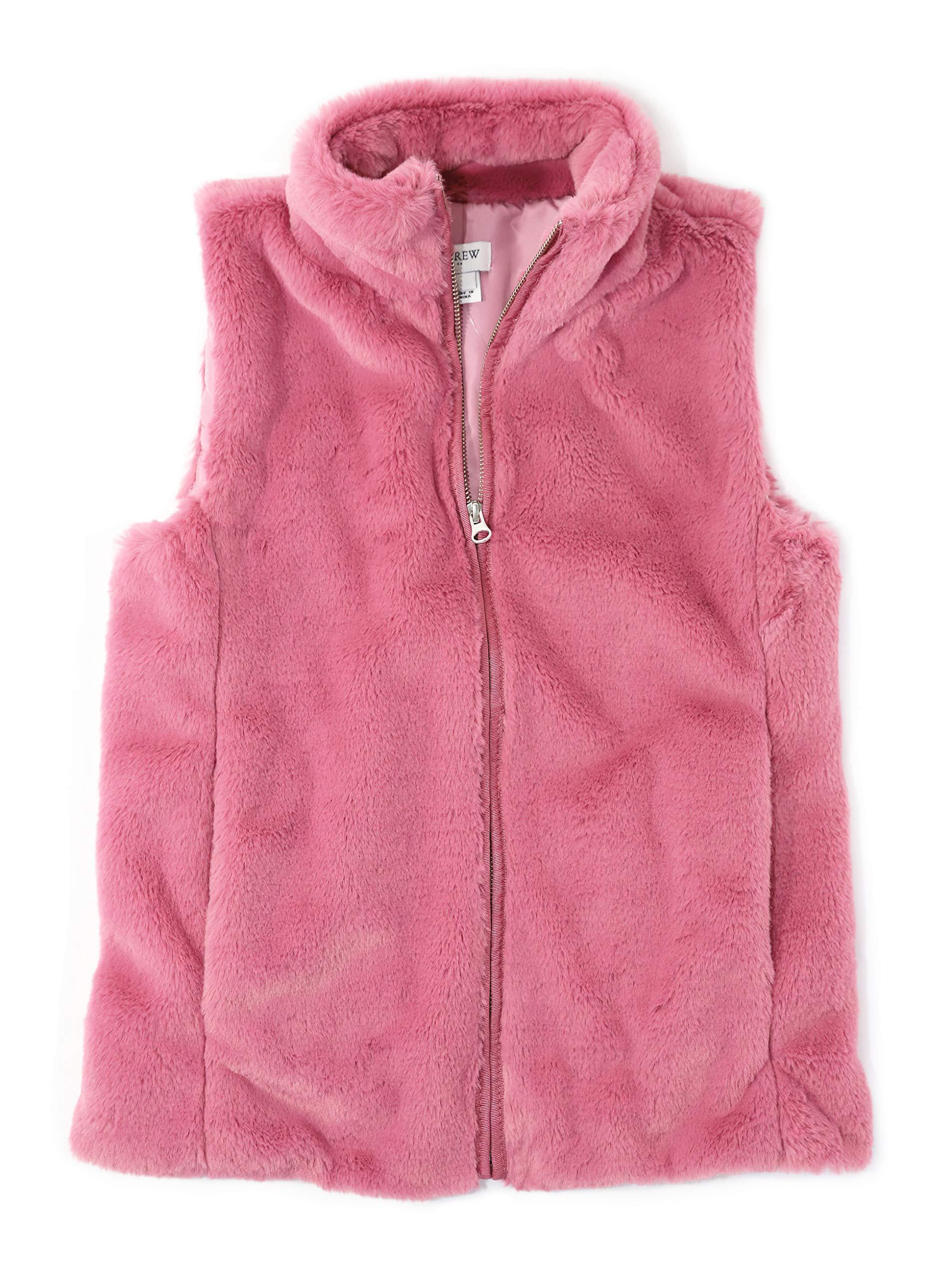 J.Crew Mercantile Women's Faux Fur Vest, Guava Berry, M by J.Crew Mercantile
