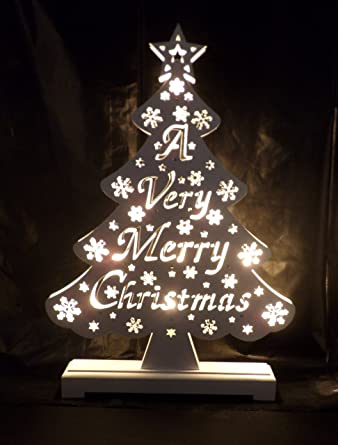 Beautiful Wooden Light Up Christmas Tree A Very Merry Christmas Free Batteries
