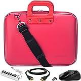 SumacLife Cady Pink Laptop Bag w/HDMI Cable, USB