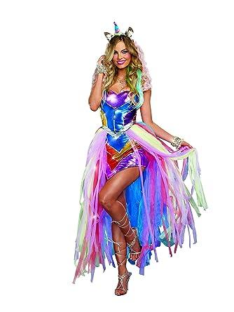 ade6c4a7d751e Amazon.com  Dreamgirl Women s Colorful Unicorn Fantasy Costume ...