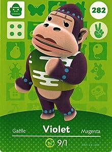 Nintendo Animal Crossing Happy Home Designer Amiibo Card Violet 282/300 USA Version