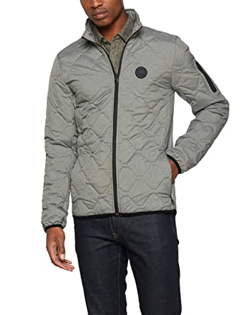 Lindbergh Quilted Jacket, Chaqueta para Hombre, Gris Grey Mel, Large