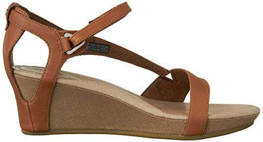 20 DECK. W Capri Wedge Capri Wedge W-W - Sandalias de cuero para mujer, color marrón, talla 37, Marrón (Marron (Toffee)), 41