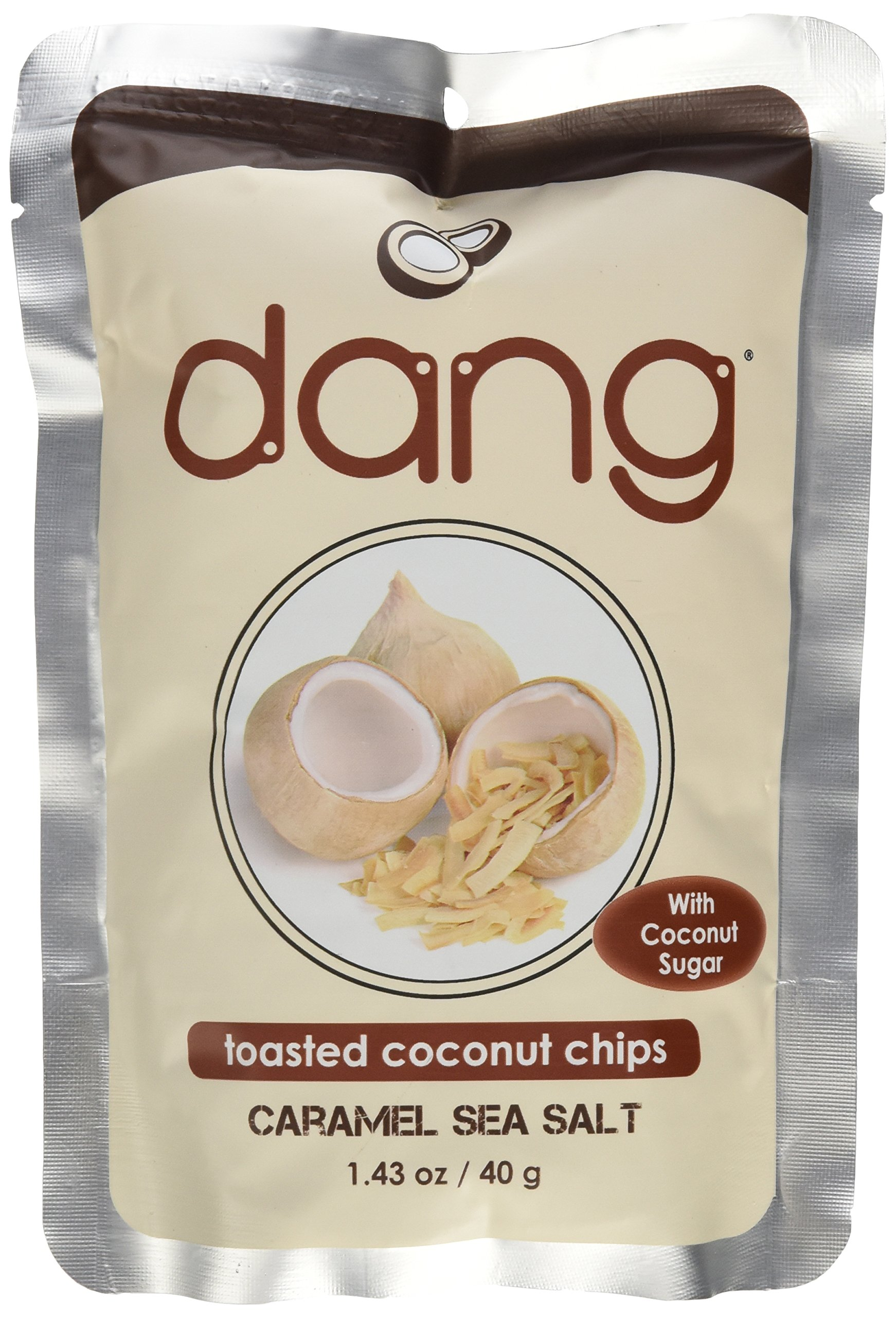 Dang Toasted Coconut Chips, Caramel Sea Salt, 1.43 Ounce (Pack of 3) by DANG