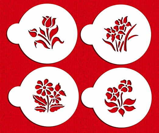 Amazon.com: Designer Stencils C352 Botánico Flores Cookie ...