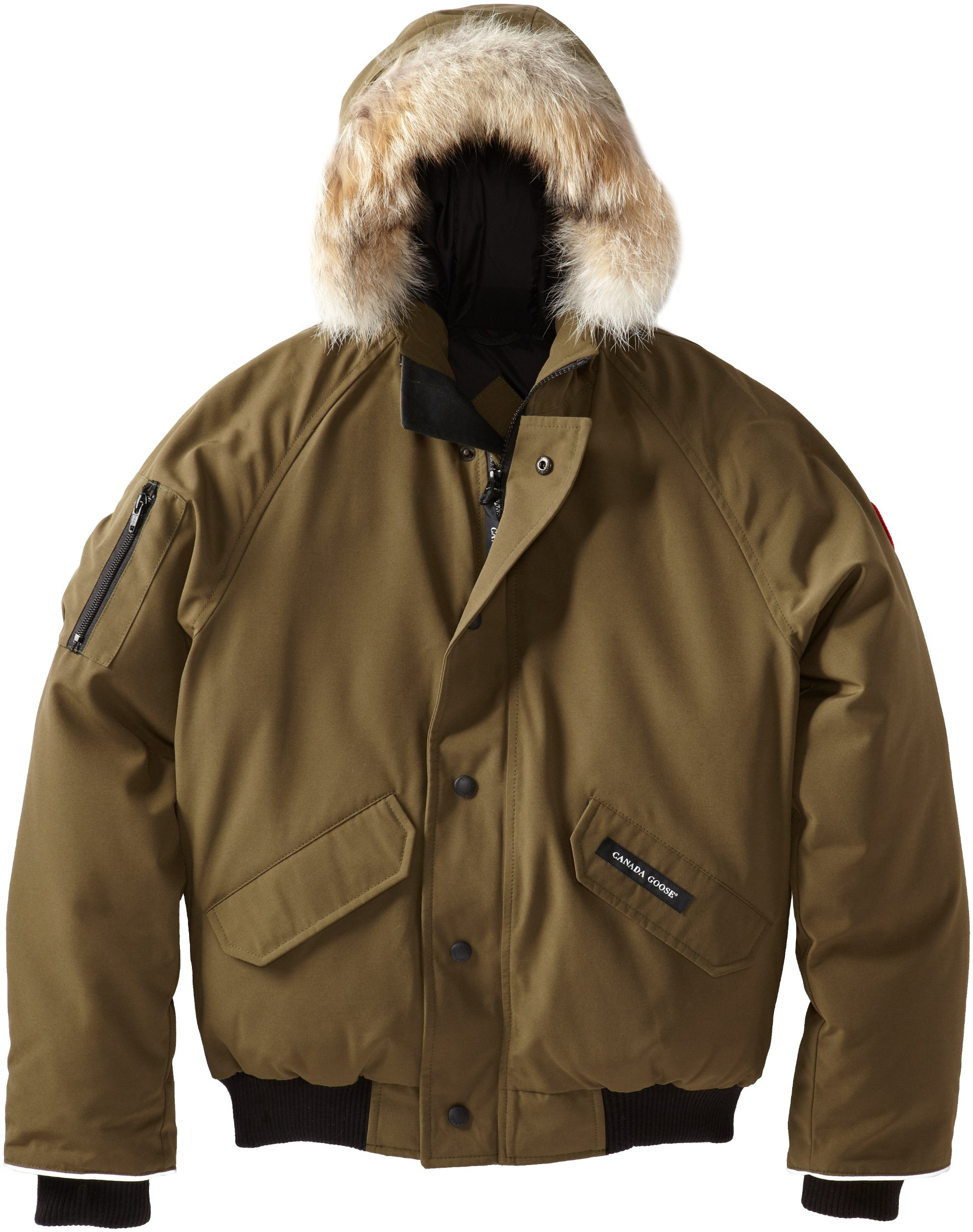 Canada Goose Youth Rundle Bomber, Military Green, X-Small