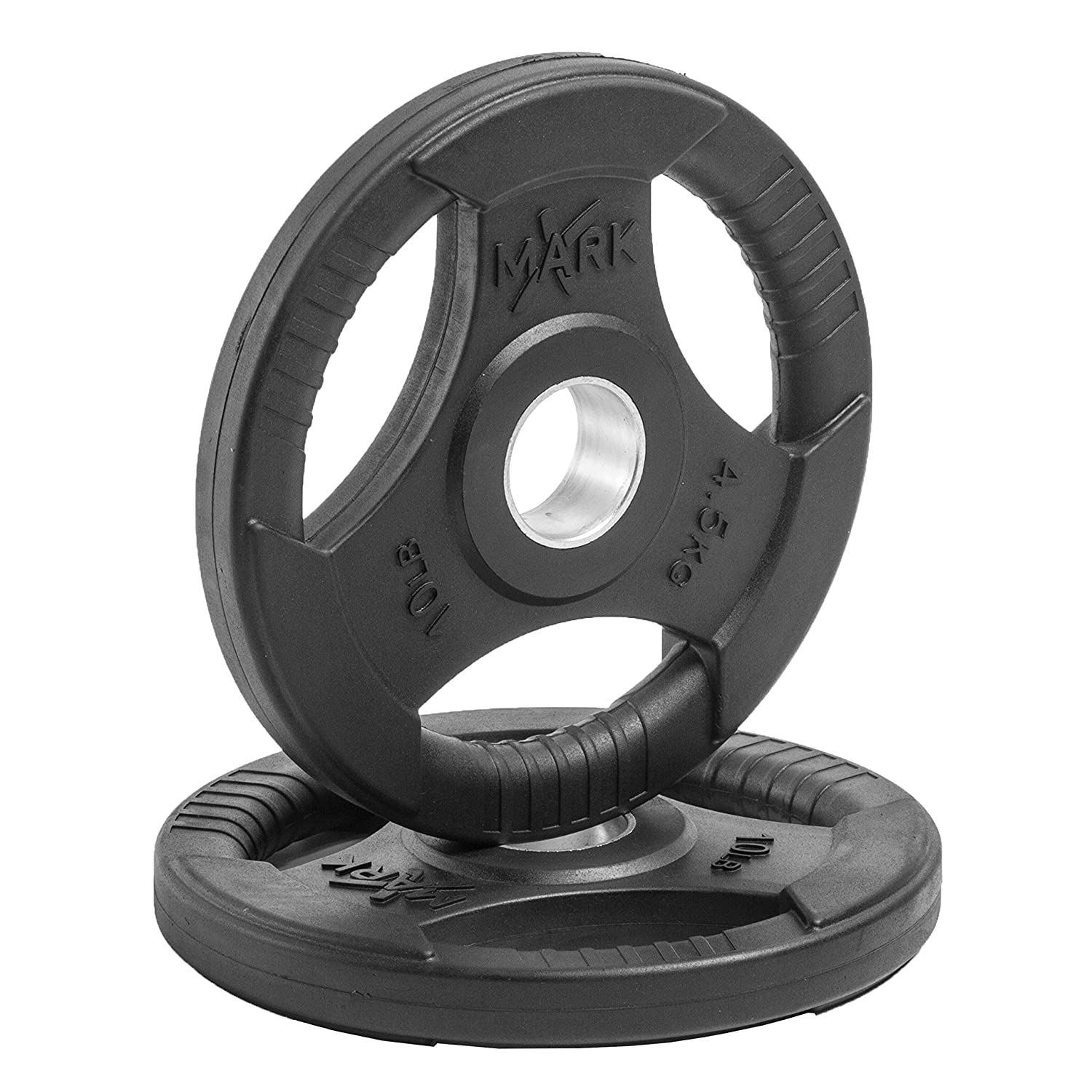 XMark Fitness Premium Quality Rubber Coated Tri-grip Olympic Plate Weights - Sold in Pairs  sc 1 st  Amazon.com & Amazon.com : Champion Rubber Coated Grip Plate : Weight Plates ...