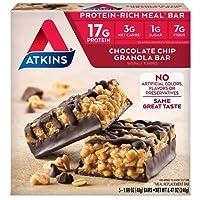Atkins, Advantage, Chocolate Chip Granola Bar, 5 Bars, 1.7 oz (48 g) Each