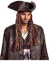 Disney Men's Potc5 Captain Jack Sparrow Hat, Bandana and Dreads-Adult