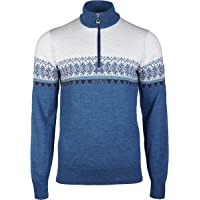 Dale of Norway Men's Hovden Masc Sweater, See mele/Smoke/Navy/Tuerkis/Off White