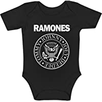 LaMAGLIERIA Body Bebè Ramones - Rock Baby Body