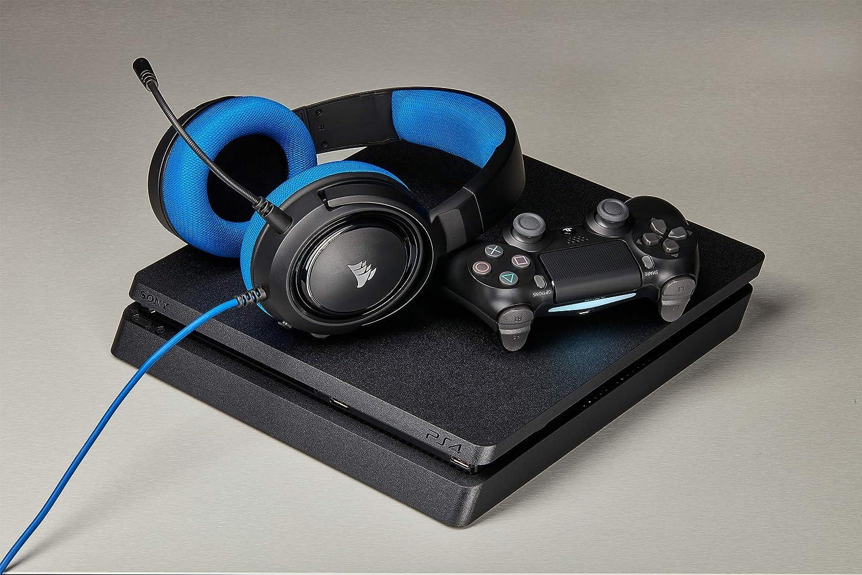 Carbone /&  HARPOON RGB Optique Souris Gaming Noir R/étro-/Éclairge RGB Multicolore, 6000 DPI Corsair HS50 STEREO Casque Gaming avec Micro D/étachable pour PC//PS4//Xbox//Mobile