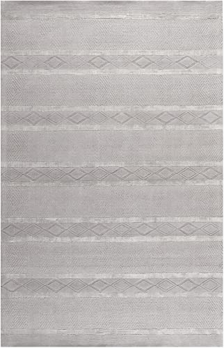 Safavieh Soho Collection SOH951A Handmade Light Grey Premium Wool Area Rug 8'3″ x 11'