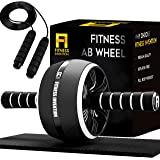 Fitness Invention Ab Roller Wheel - 3-IN-1 Ab Wheel Roller with Knee Mat and Jump Rope - Ab Roller Wheel for Abdominal…