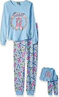 52566c206f Amazon.com  Dollie   Me Girls  Printed Snugfit Sleepwear Set  Clothing