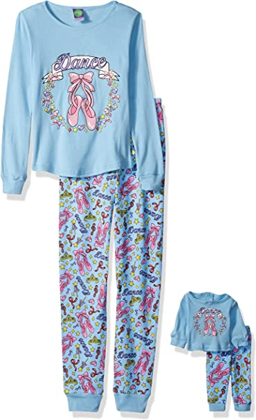 Dollie /& Me Girls Big Snugfit Cotton Sleep Set