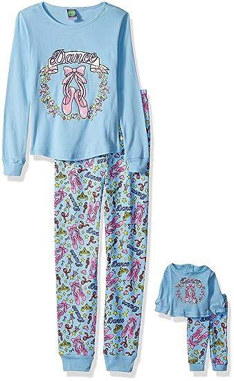 Amazon.com  Dollie   Me Girls  Big Snugfit Cotton Sleep Set  Clothing ec066a738