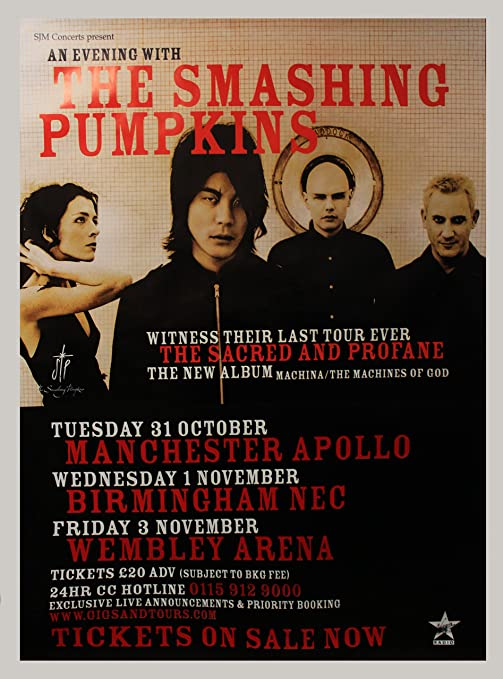 Smashing PUMPKINS-NOTTING HILL LONDON 1992-POSTER 61x91.5cm