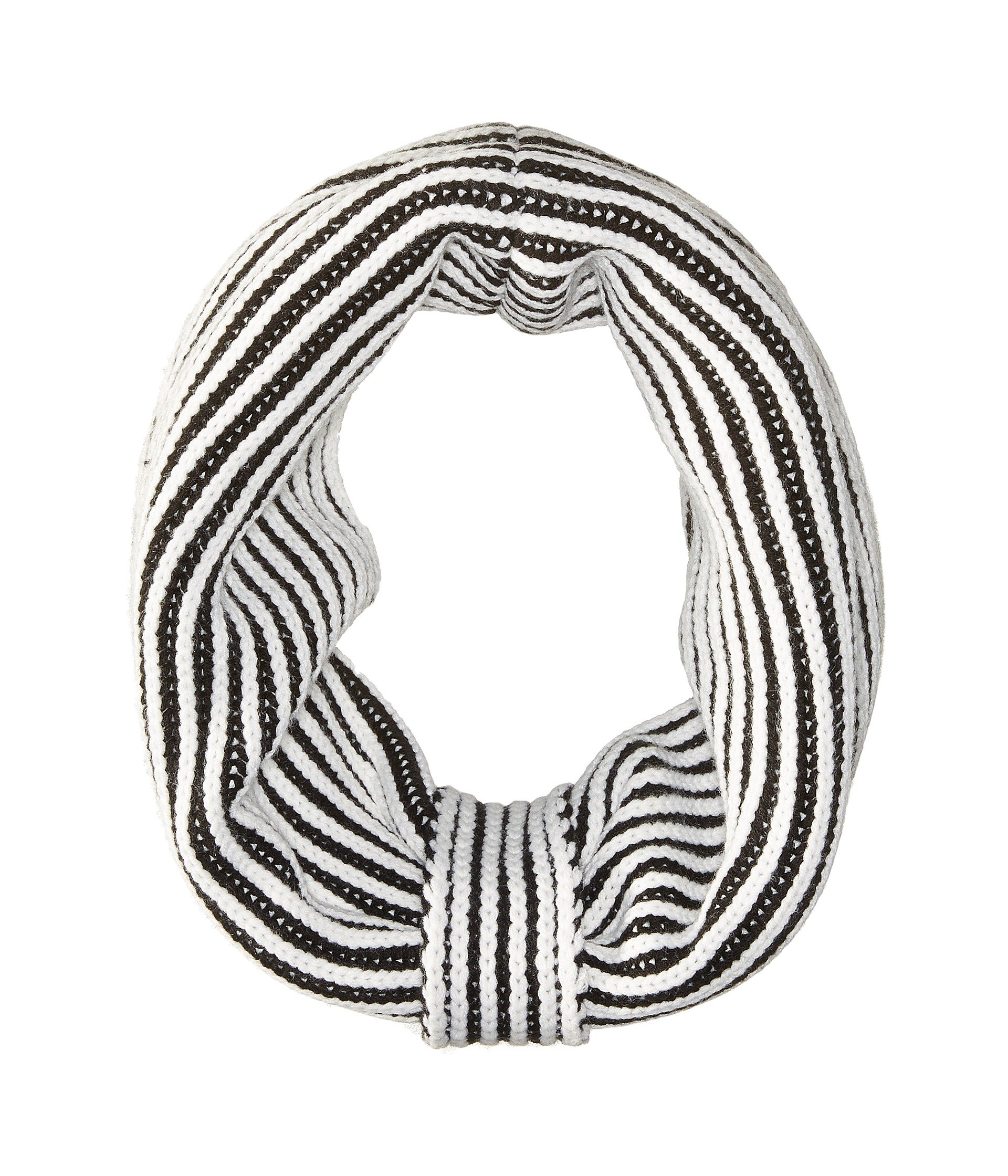 Kate Spade Plaited Rib Neckwarmer,Black/Cream