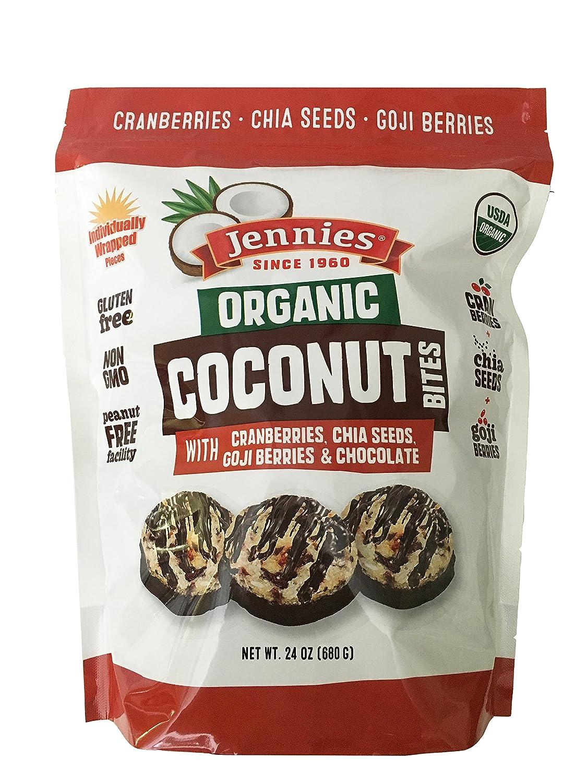 Amazon Com Jennies Organic Coconut Bites Gluten Free Peanut