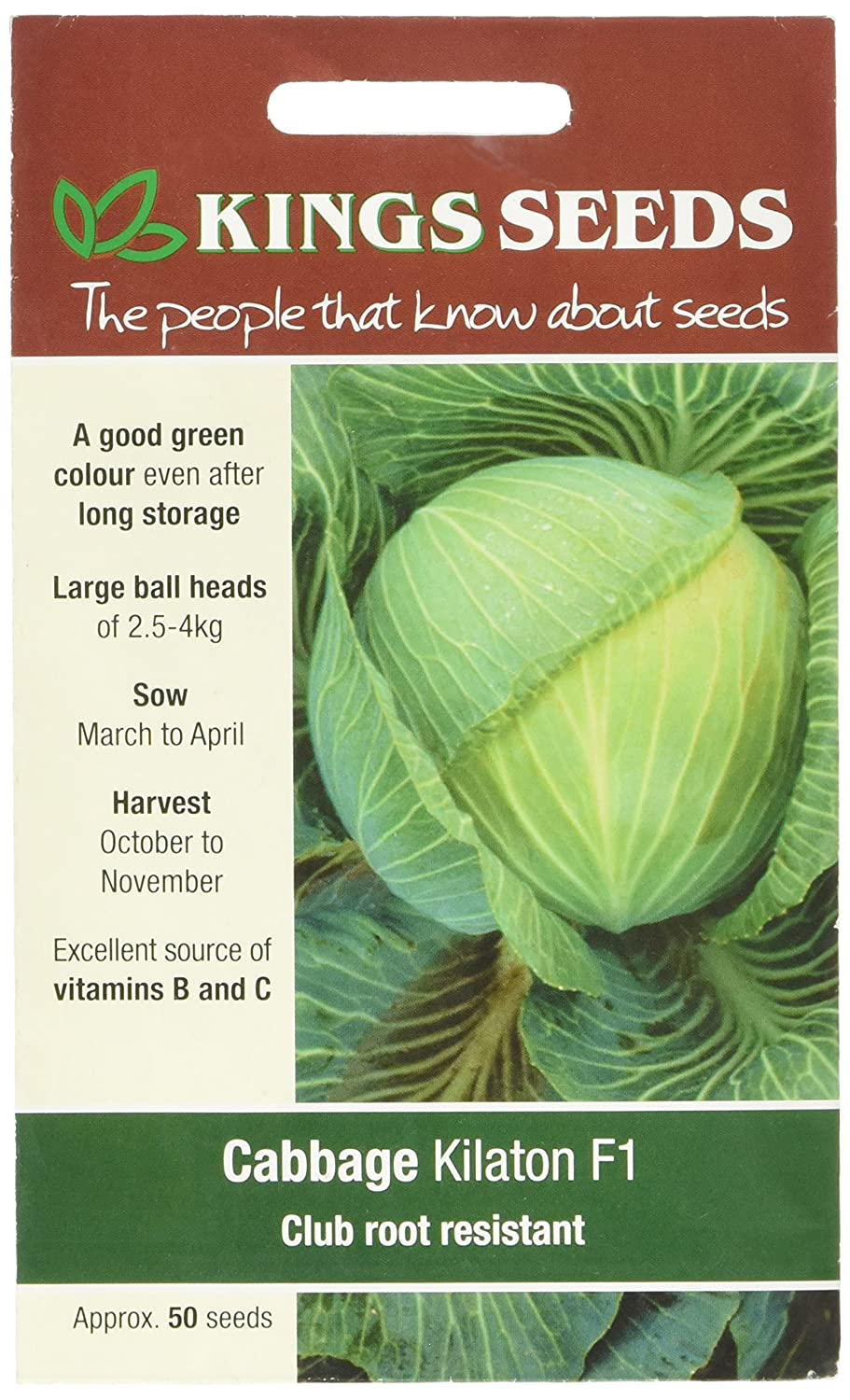 Pictorial Packet Cabbage Kings Seeds Vegetable Kilaton F1