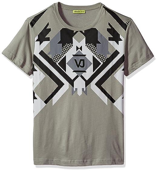 5fb2f5bf0beb Amazon.com  Versace Jeans Men s Optical Graphic Tee  Clothing