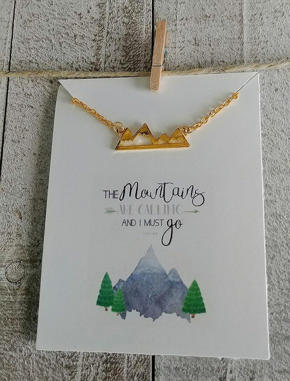 d031993e22c26 Amazon.com: Mountains Necklace - Adventure Necklace - The Mountains ...