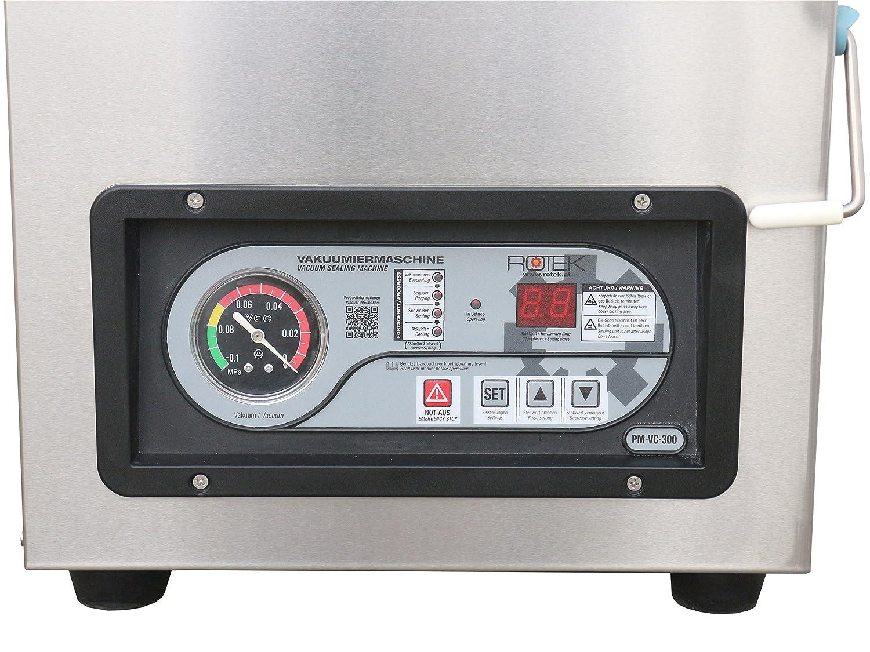 PM-VC Serie Kammer Vakuumierger/ät mit Edelstahlgeh/äuse Industrie-Vakuumpumpe innenliegenden Schwei/ßbalken und Digitalpanel