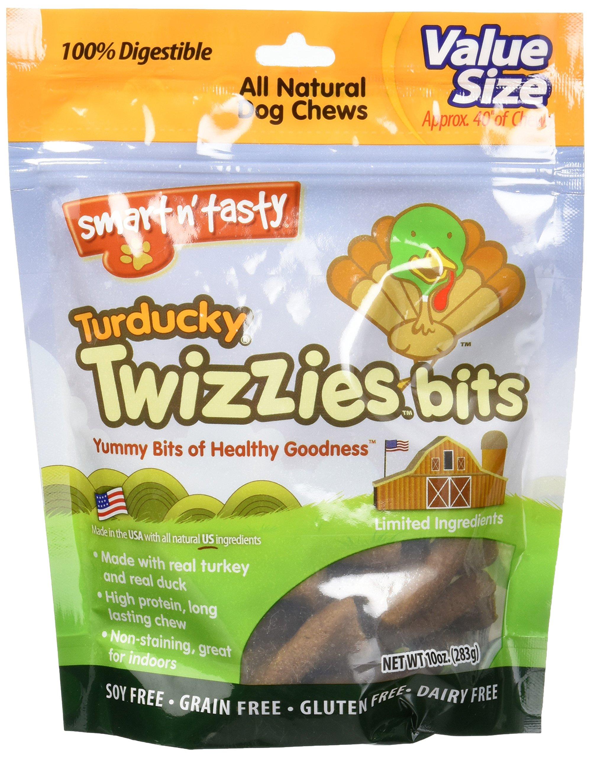 Emerald Pet Products Smart N Tasty Turducky Twizzies Bits- Turkey/duck 10 Ounce