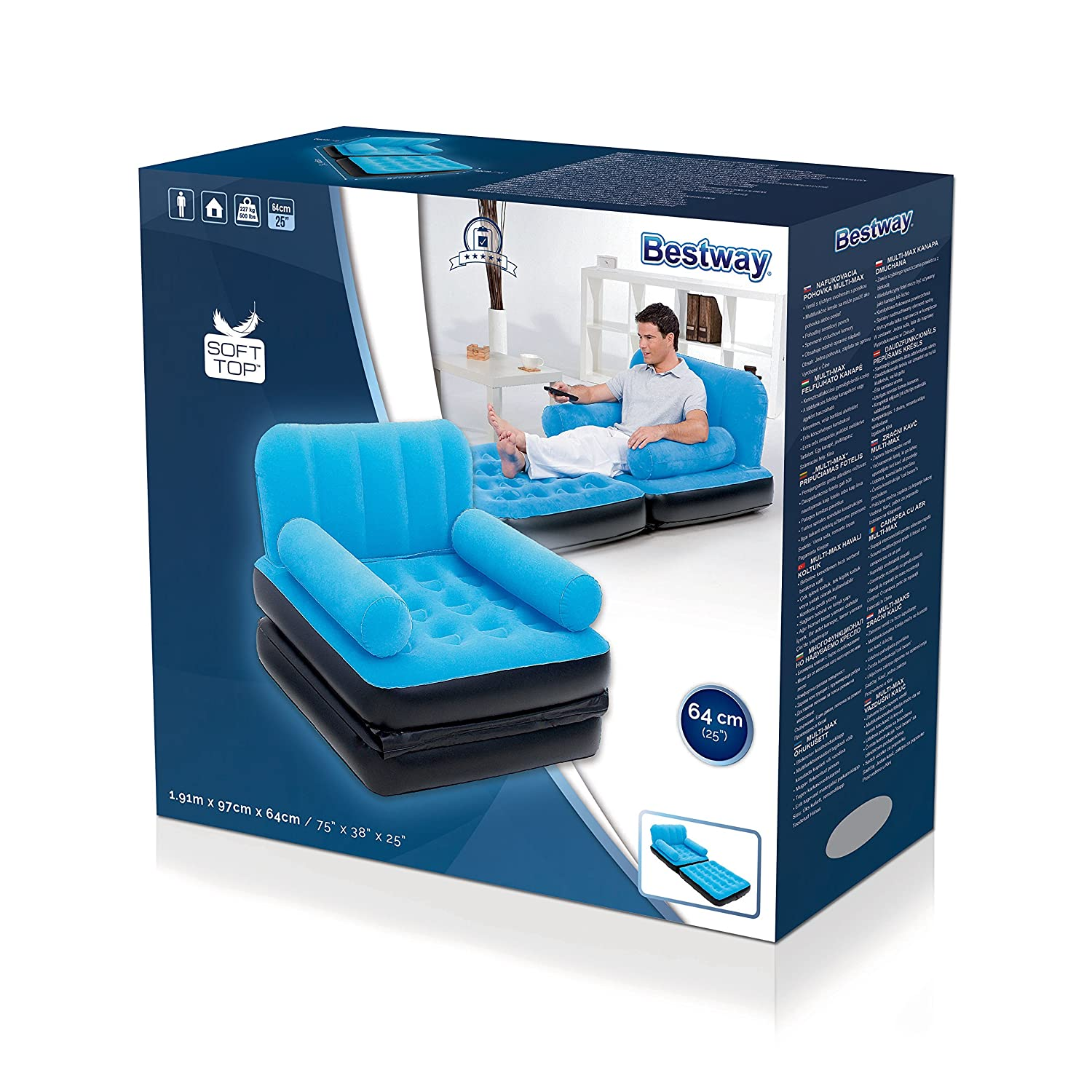 Bestway Luftbett Comfort Quest Multifuntions Multi Max - Colchón ...