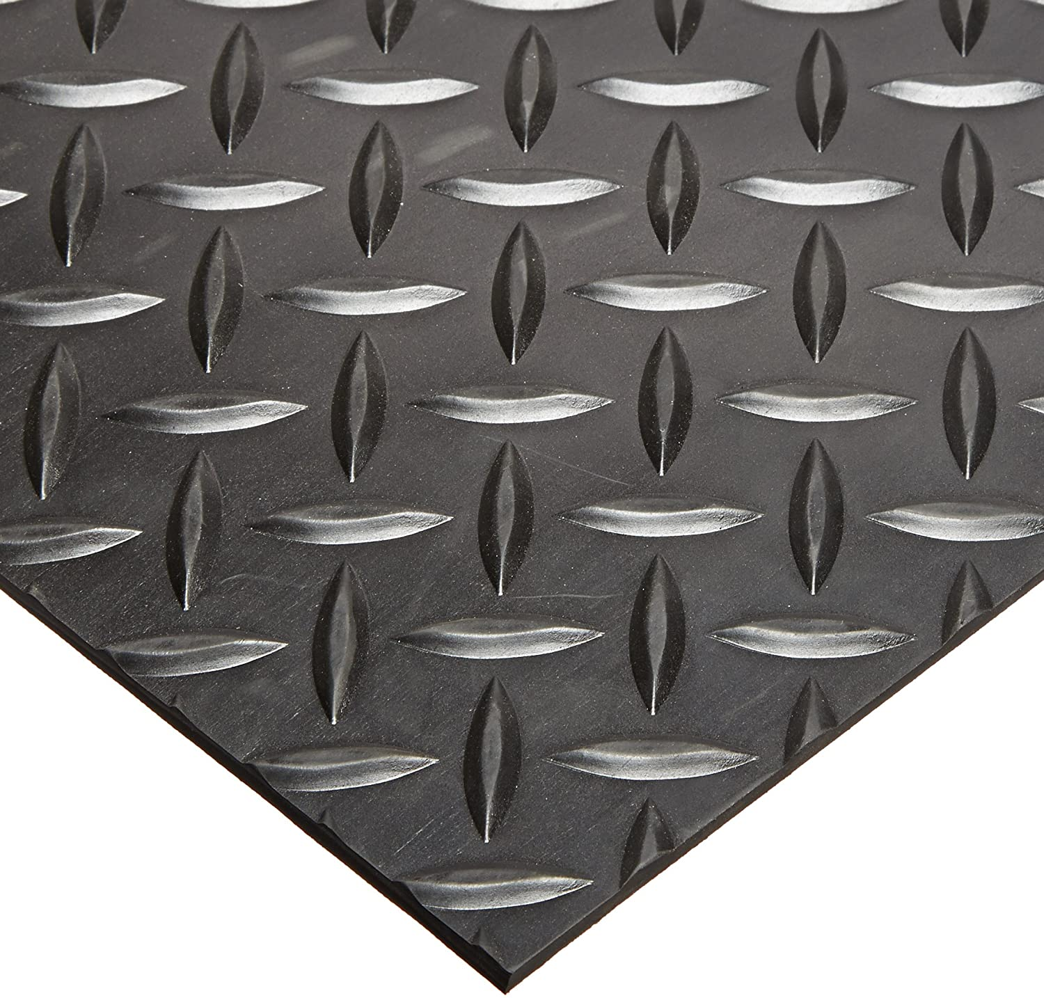 Rhino Mats SBD-424-3648 Diamond Plate Pattern Rubber Insulating Switchboard Mat, 3' Width x 4' Length x 1/4 Thickness, 30000 VAC, ASTM Type II Class 2, Black by Rhino Mats B00EQD6N2G
