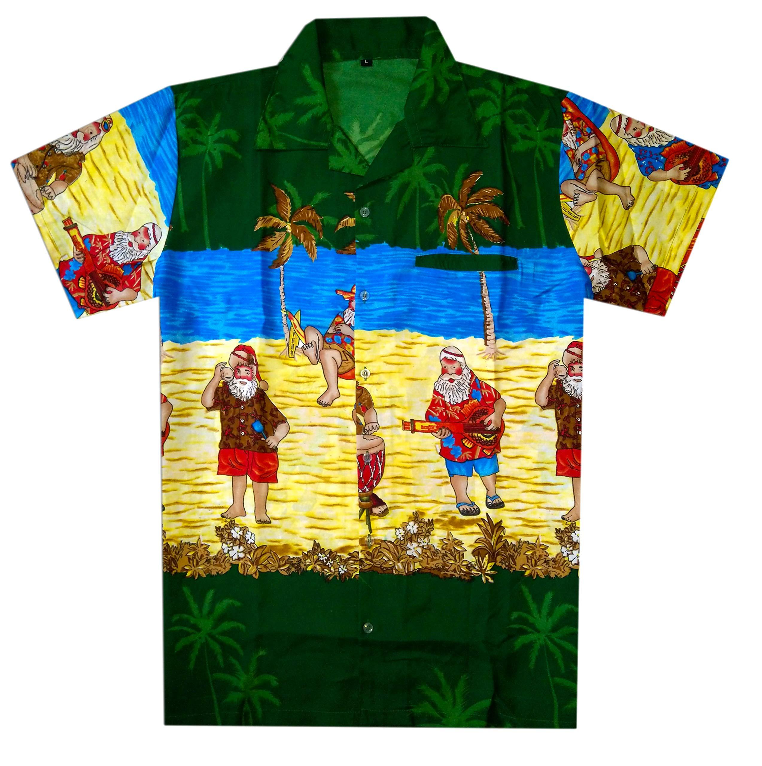 Christmas Hawaiian Shirt Womens.Virgin Crafts Christmas Hawaiian Shirt For Men Women Santa