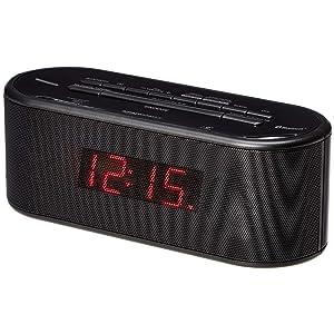AmazonBasics FM Dual Alarm Clock Radio with USB Charging Port and Bluetooth