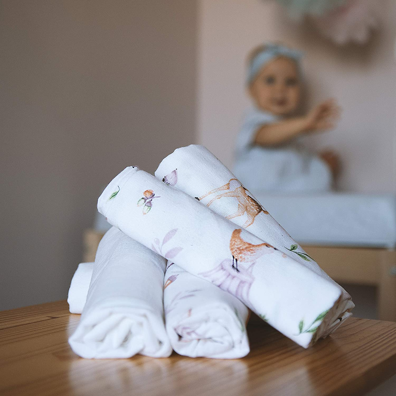 pannolini lavabili LULANDO Pannolini in flanella della serie Art Collection Forest set da 5 pezzi 70 x 80 cm